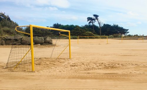 Beach soccer goal for the competition in powder coated aluminum