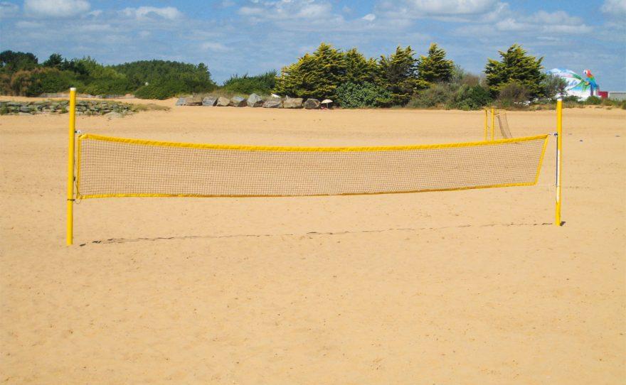 But de beach tennis en aluminium plastifié Metalu Plast sport plage