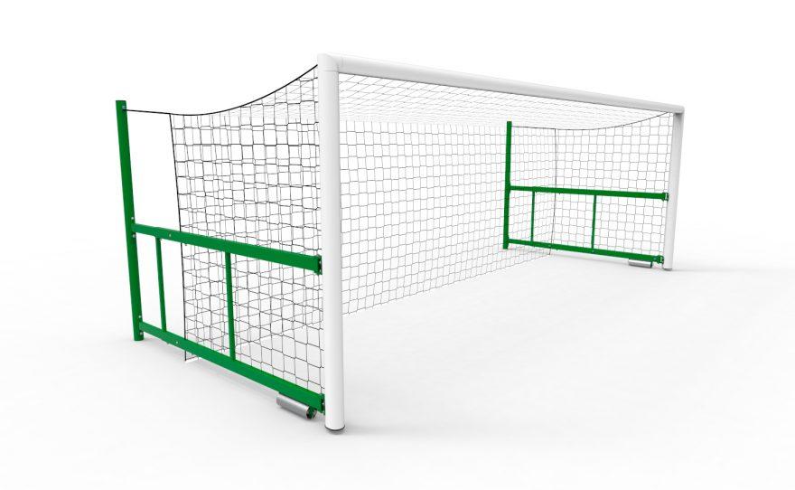 But de foot à huit 8 repliable avec filet intégré modèle San Siro de Metalu Plast