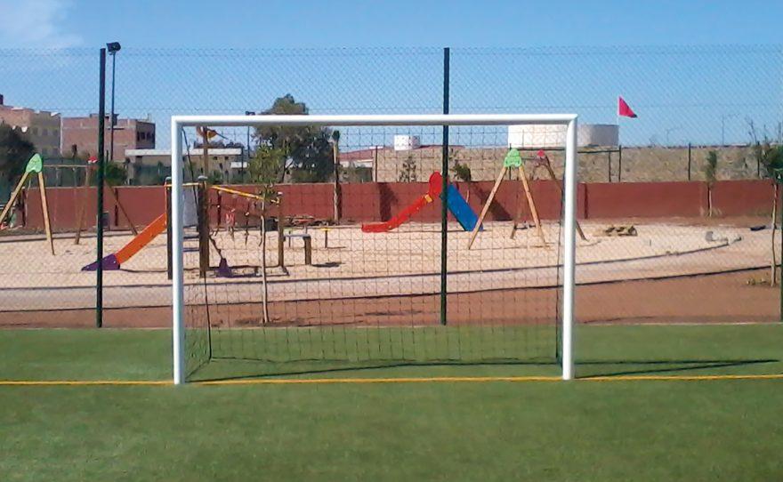 Cage de foot en acier sur mesure Metalu Plast