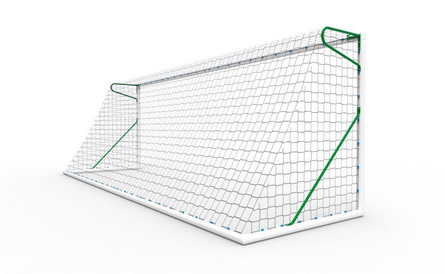 11-a-side football goal in transportable aluminium Metalu Plast sports equipment