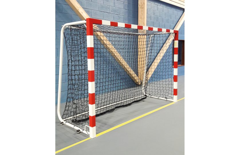 Handball goal for high competition with double stabilization bar Metalu