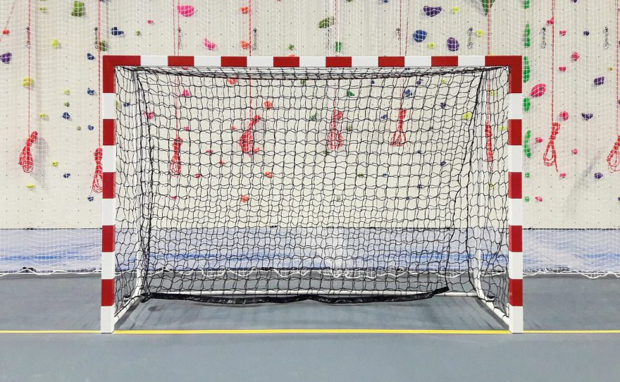 Handball goal for high competition with shock absorber net Metalu Plast