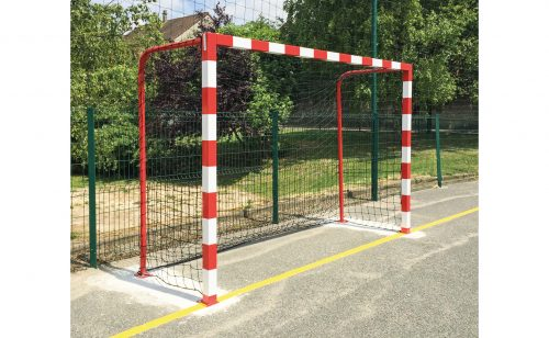 Cage de handball de rue plastification bicolore Metalu Plast
