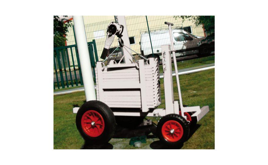 Chariot de contrôle pour tester les équipements sportifs Metalu Plast matériel sport