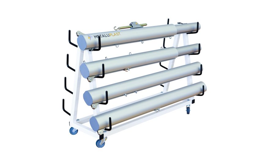 Transport trolley for tennis volley badminton posts Metalu Plast sports equipment