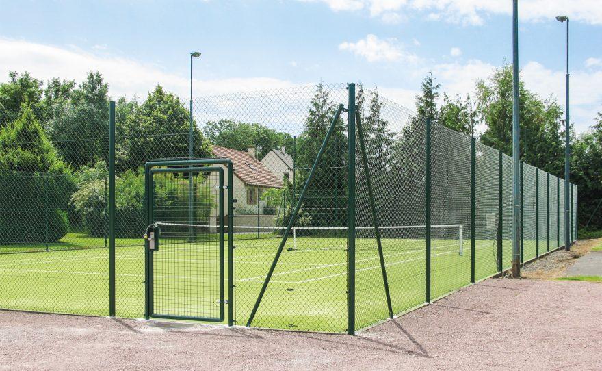 Cloture pour terrain de tennis Metalu Plast