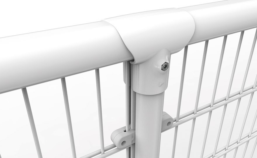 white handrail with anti-noise system dB Lock Metalu Plast