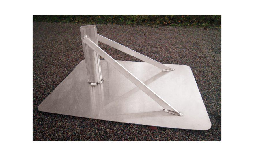 Embase très solide pour beach volley en aluminium à ensabler Metalu Plast matériel sportif