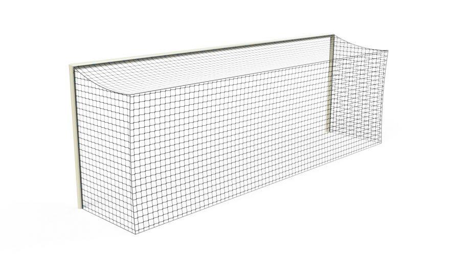 Filet de foot forme rectangulaire adapté à la compétition Metalu Plast