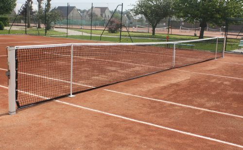 Tennis competition use net Metalu Plast manufacturer of sports equipment