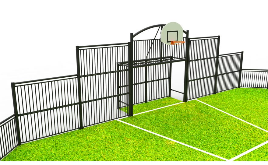 Multisport playground Deauville with HDPE basketball backboard Metalu Plast