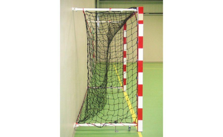 Cage de handball en aluminium rabattable adaptée à la compétition