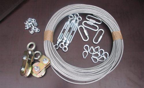 Kit d'accessoires pour panier de basket charpente de Metalu Plast