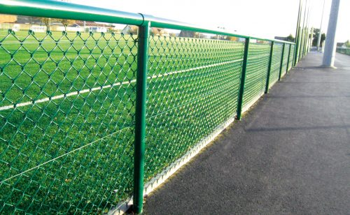 Football field grid in single twist Metalu