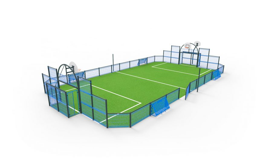 multisports playground herouville with brazilian goal Metalu Plast