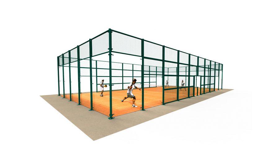 Tennis padel court with grid Metalu Plast