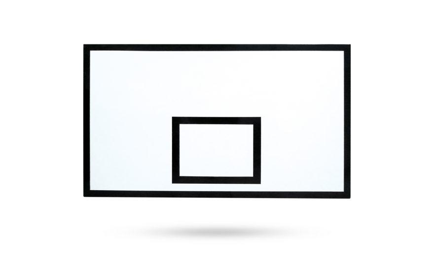 Panneau de basketball rectangle PES Metalu Plast équipement basket