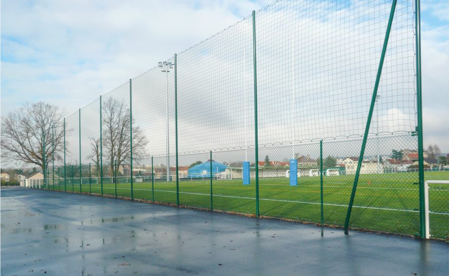 ball-stop with round posts and net metalu Plast