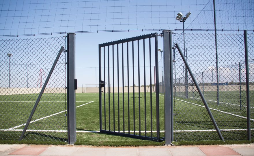 single door gate for 7-a-side football field Metalu Plast