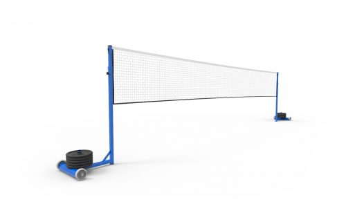 Badminton post for competition, ballasted and self-supporting Metalu Plast manufacturer of sports equipment