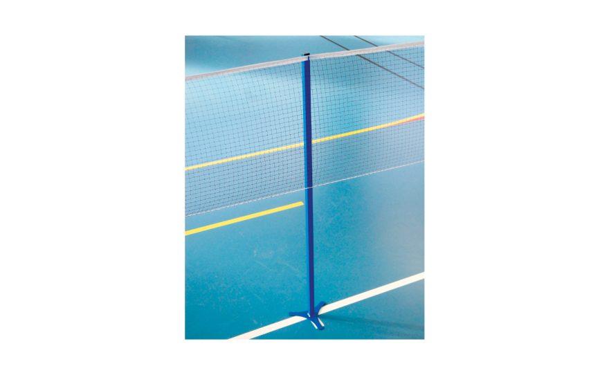Central badminton post affordable Metalu Plast french manufacturer