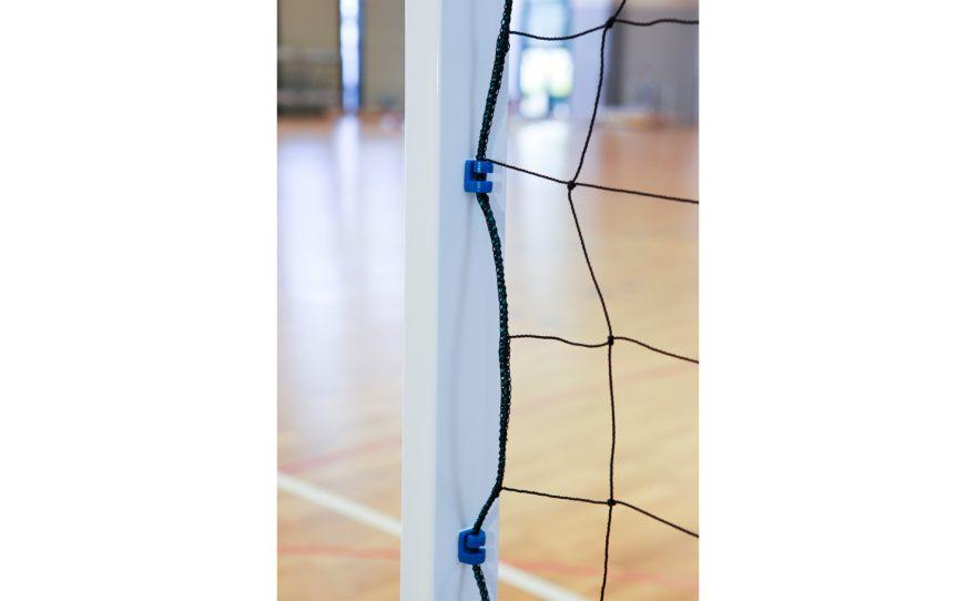 Poteau de but de handball utilisation scolaire filet de qualité résistant Metalu Plast