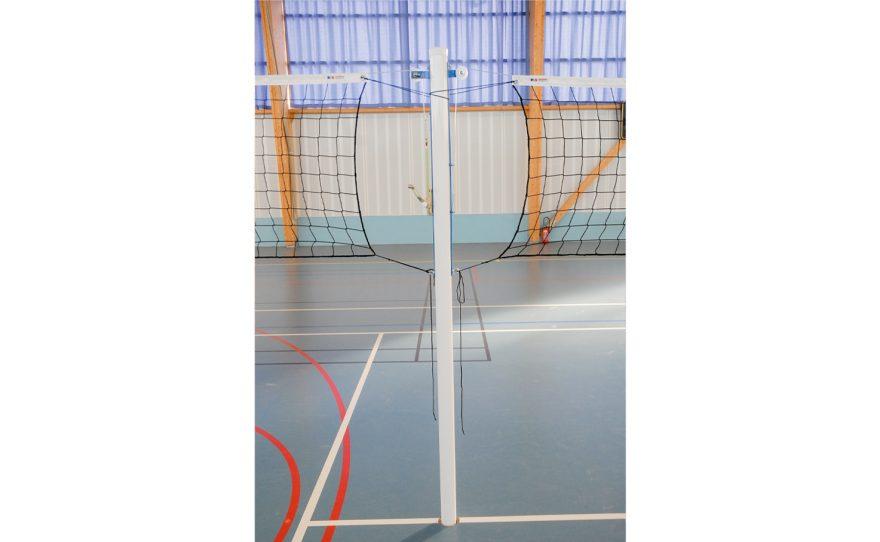 Poteau central Metalu Plast en aluminium pour entraînement de volley ball