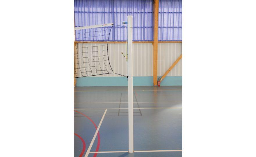 Poteau de volley rond pour entraînement en aluminium Metalu Plast équipement sportif