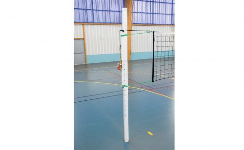 Round aluminium volley ball posts for competition