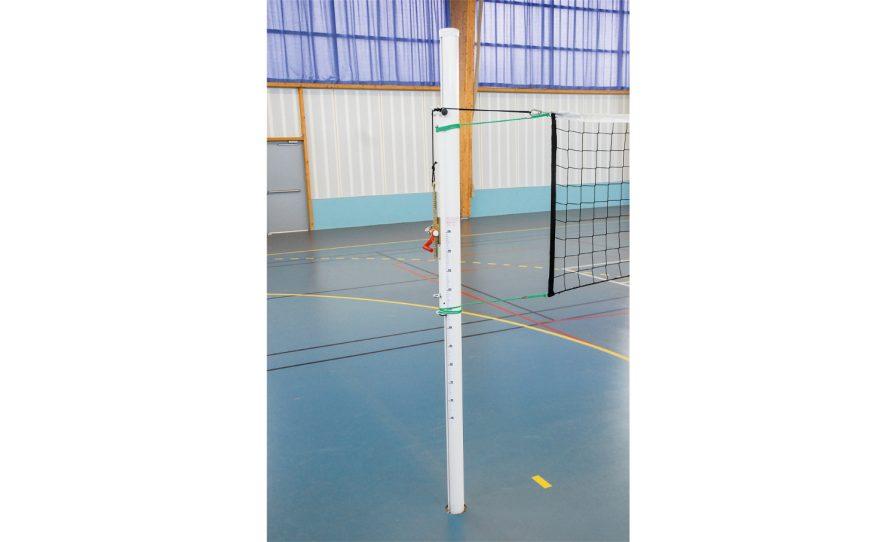 Poteau rond de volley pour la compétition en aluminium Metalu Plast équipement sportif