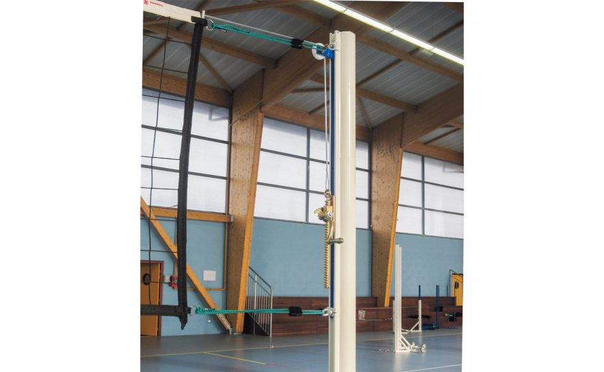 Steel volley ball posts for training use Metalu Plast manufacturer of sports equipment