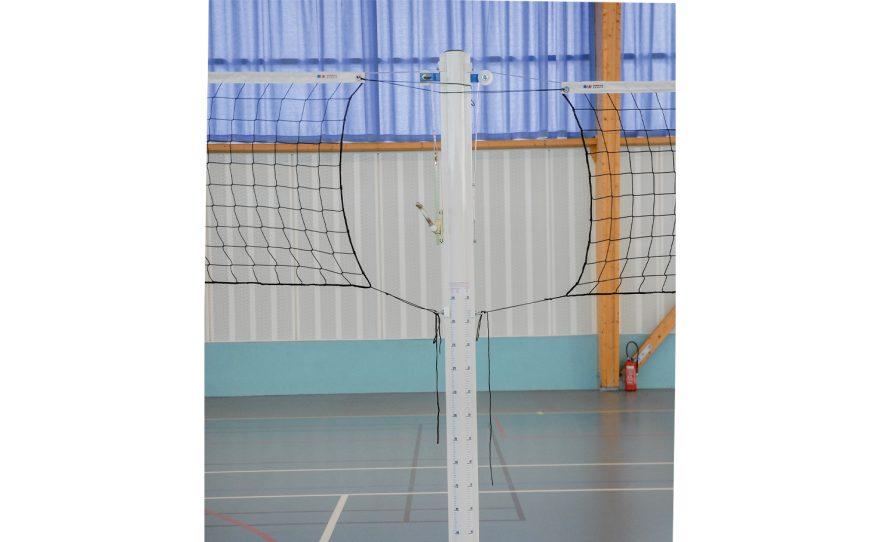 Poteau central pour entraînement de volley ball en acier Metalu Plast