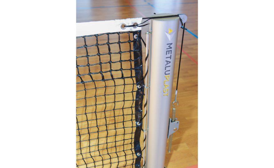 Poteau de tennis ovoide anodisé Metalu Plast équipement de sport