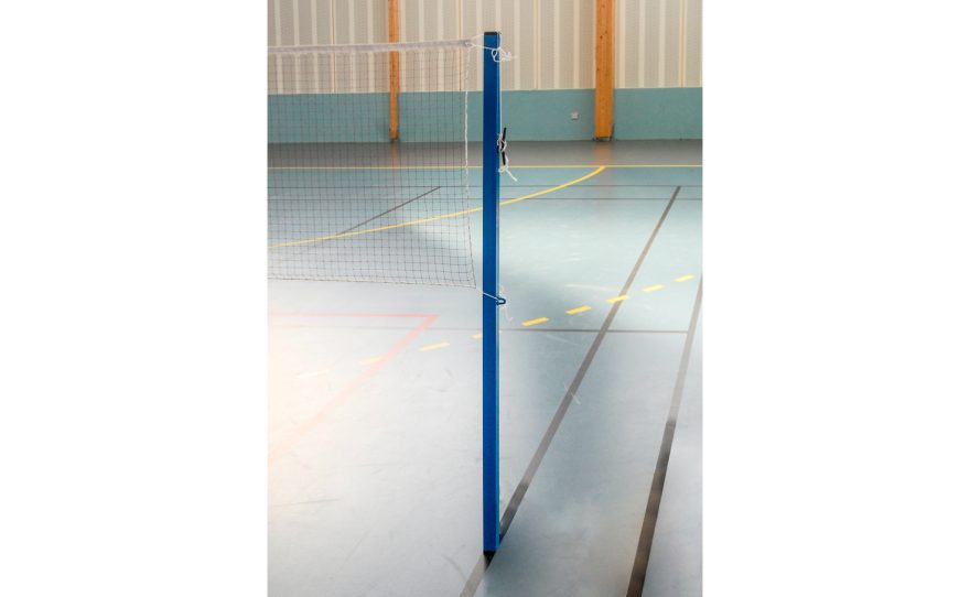 Badminton post with a fixed height to be anchored Metalu Plastmatériel sportif