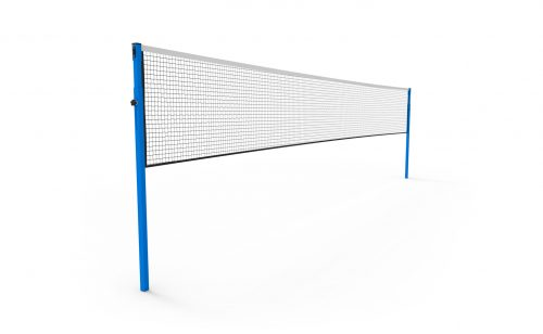 Competition badminton post with adjustable height, to be socketed