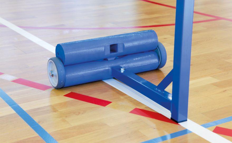 blue badminton training pole with ballast Metalu Plast