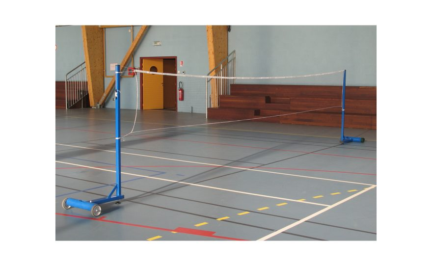 side badminton post for leisure with base to be ballasted Metalu