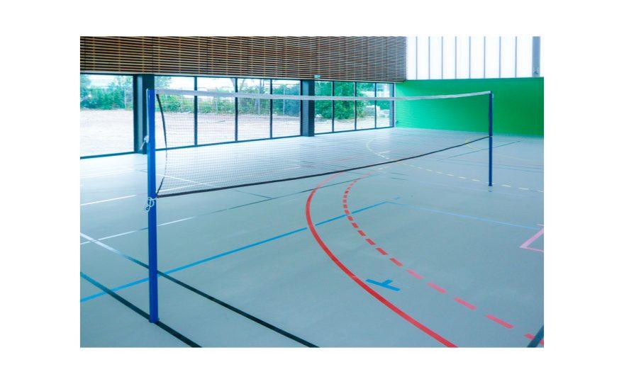 Badminton posts with fixed height Metalu Plast