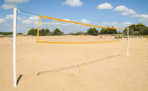 Aluminium beach volleyball posts for leisure