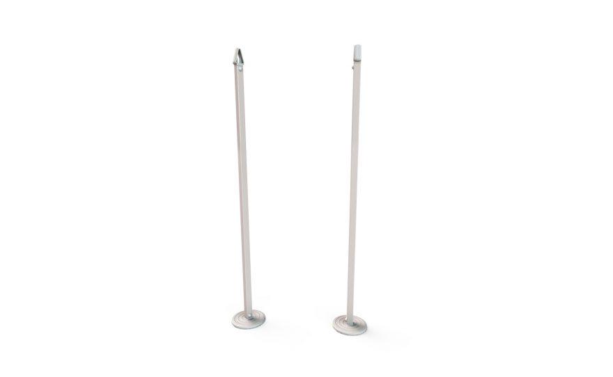 Poteaux de simple carré pour tension du filet en aluminium Metalu Plast