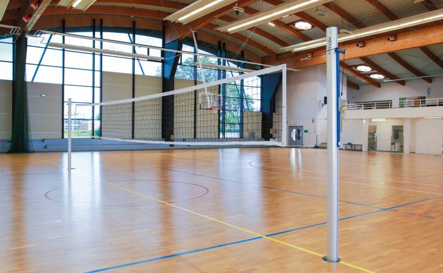 Poteaux de volley ball pour la compétition en aluminium ovoïde anodisé