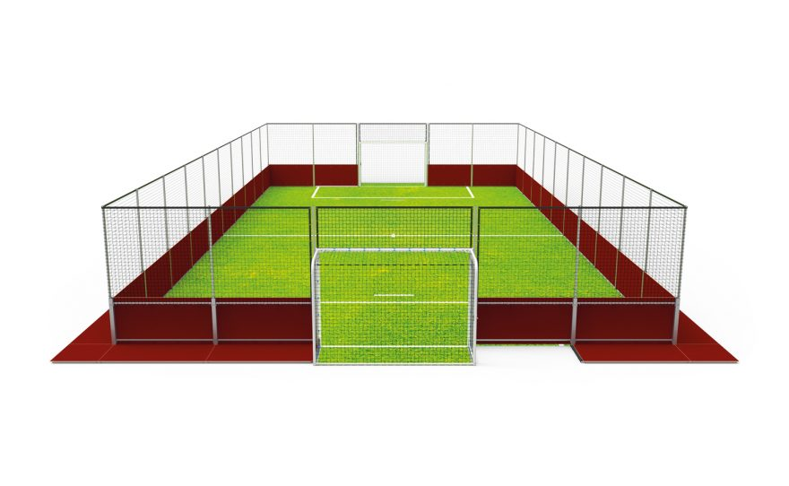 Removable soccer pitch Metalu