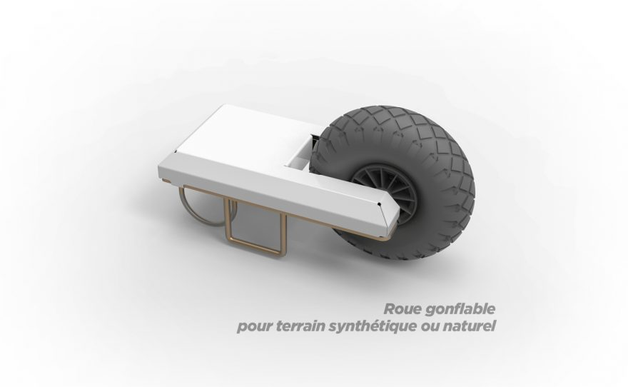 Roue gonflable pour terrain synthétique ou naturel but de football transportable Metalu Plast
