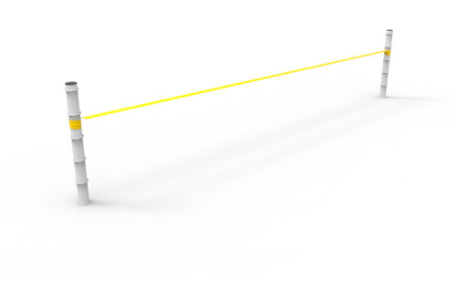 Poteaux de slackline en acier plastifié blanc