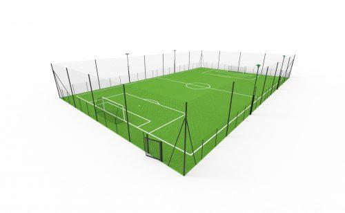 Terrain de foot à 7 avec pare -ballon