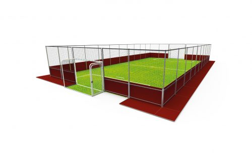 Removable soccer pitch by Metalu Plast french manufacturer of sports equipment
