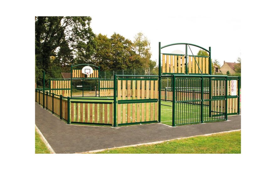 green multisport pediment boreal with wood Metalu Plast