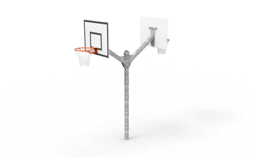 Basketball multi-directional tower 2 heads Metalu plast manufacturer of sports equipment