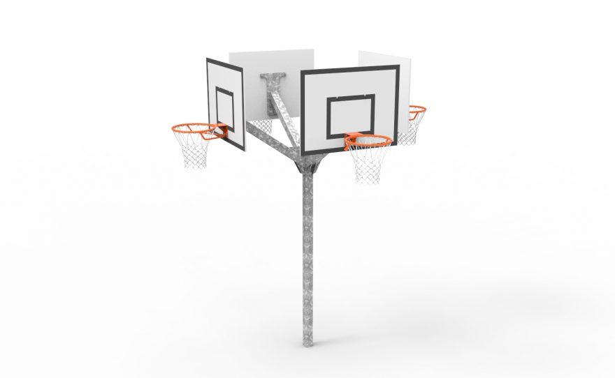 Basketball multi-directional tower 4 heads Metalu plast